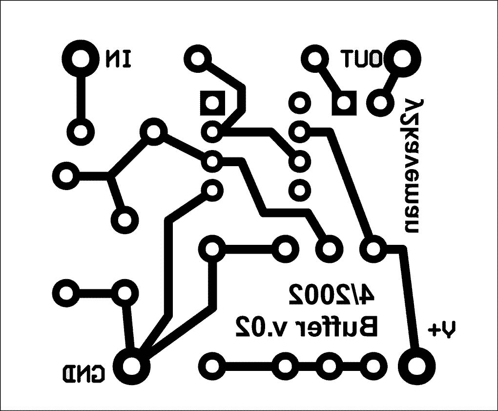 Morley Aby Mod 1 Buffer Circuit Add On Peters Guitarfx Blank Tele Wiring Diagram Pc Board Layout Copper Side Only Ready To Print